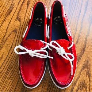 COLE HAAN Nantucket Camp Moc Women's Red Loafers